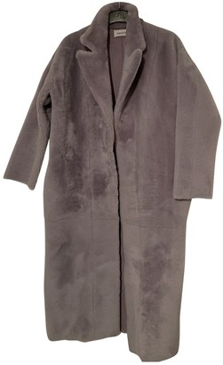 16Arlington 16 Arlington Purple Leather Coat for Women