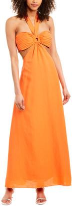 Ronny Kobo Sonnet Linen-Blend Maxi Dress