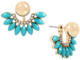 INC International Concepts M. Haskell for Gold-Tone Pave, Colored Stone & Imitation Pearl Ear Jacket Earrings, Created for Macy's