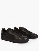 Officine Creative Black Leather Serrano Sneakers