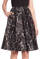 Piazza Sempione Printed A-line Skirt