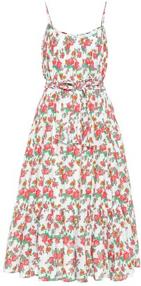 Rhode Resort Lea floral cotton midi dress