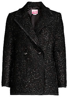Kate Spade Women's Tinsel Tweed Double Breasted Blazer