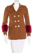 Gucci Fall 2015 Mink-Trimmed Wool Jacket