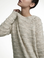 White + Warren Alpaca Textured Stripe Raglan