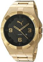 Puma Quartz Stainless Steel and Gold Plated Watch(Model: PU103921004)
