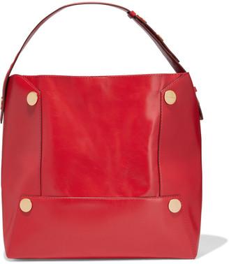 Stella McCartney Popper Studded Faux Leather Shoulder Bag