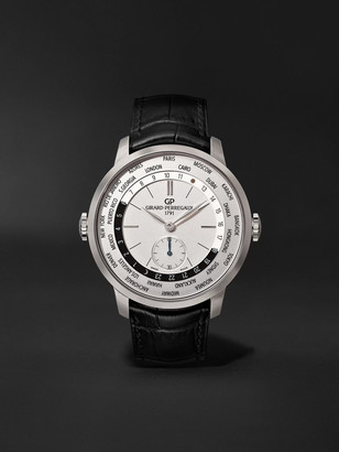 Girard Perregaux 1966 Ww.tc Automatic 40mm Stainless Steel And Alligator Watch