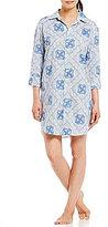 Lauren Ralph Lauren His Shirt Bandanna-Print Classic Sleepshirt