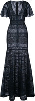 J. Mendel mixed lace gown