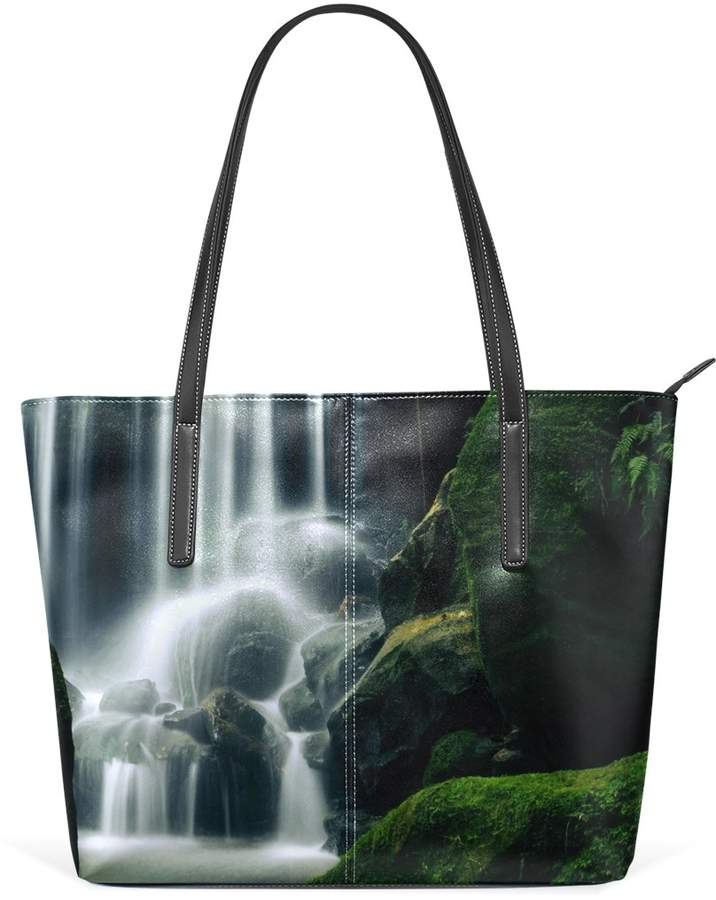 25781d6de908 DEYYA Womens Large Tote Top Handle Shoulder Bags New Zealand Waterfall  Pattern Ladies Handbag