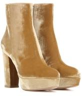 Gianvito Rossi Temple Velvet Platform Boots