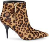 Marc Fisher Faye Leopard-Print Cow Hair Booties