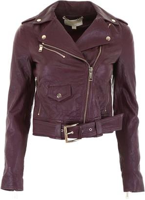 MICHAEL Michael Kors Biker Leather Jacket