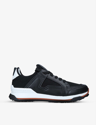Ermenegildo Zegna Siracusa leather and mesh low-top trainers