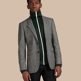 Burberry Slim Fit Prince Of Wales Wool Tailored Jacket