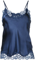Gold Hawk lace trim cami top - women - Silk/Nylon - L