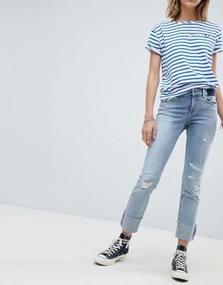 Maison Scotch Supreme Boyfriend Ripped Jeans-Blue