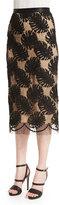 Jason Wu Corded-Lace Midi Skirt, Black