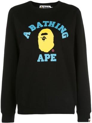 A Bathing Ape Colors College crewneck sweatshirt