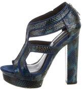 Rachel Zoe Snakeskin Platform Sandals