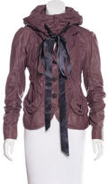 Donna Karan Structured Leather Jacket