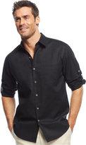 Tasso Elba Island Linen Roll Tab Shirt