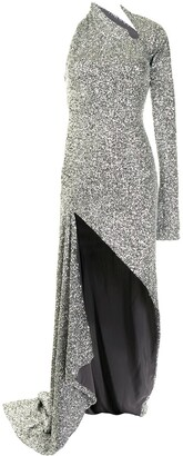 Monse Sequin Sliced Gown