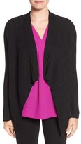 Chaus Women's Ribbed Drape Front Cardigan