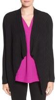 Chaus Women's Ribbed Drape Front Cardigan