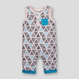 Lamaze Baby Boy' Organic Cotton Geometric Print Romper - 3M