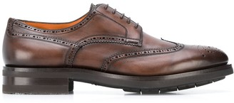 Santoni Almond Toe Brogues