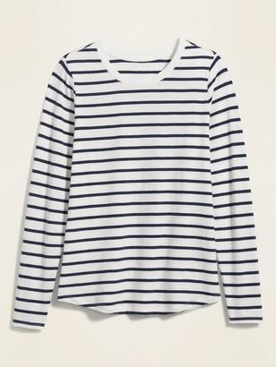 Old Navy EveryWear Striped Slub-Knit Long-Sleeve Tee for Women