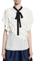 Sachin + Babi Ruth Ruffled Necktie Short-Sleeve Blouse