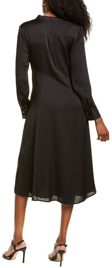 Thumbnail for your product : Anne Klein Textured Charmeuse Midi Dress