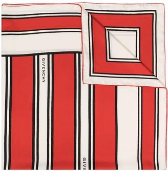 Givenchy Striped Pattern Scarf