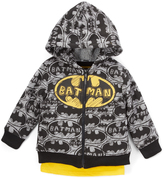 Children's Apparel Network Batman Zip-Up Hoodie & Raglan Tee - Toddler