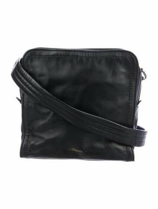 3.1 Phillip Lim Leather Hudson Square Shoulder Bag Black