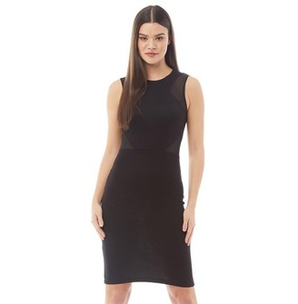 French Connection Womens Bodycon Dress Black/Black