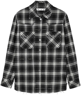 Off-White Monochrome checked flannel shirt