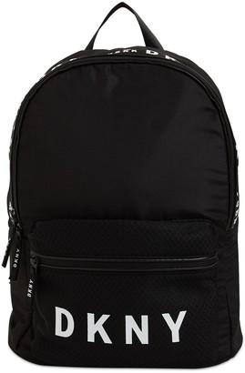 DKNY Logo Print Nylon Backpack