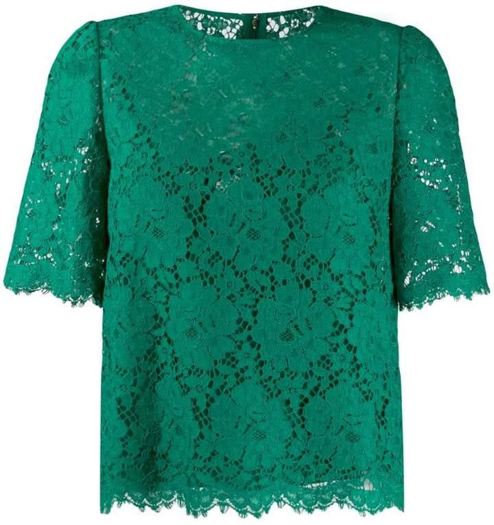 d5b462fe96d137 Green Lace Top - ShopStyle
