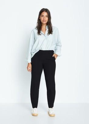 MANGO Violeta BY Slim fit suit pants black - 10 - Plus sizes