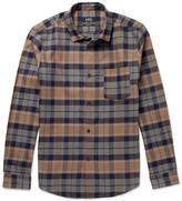 A.P.C. Milan Checked Cotton And Linen-blend Shirt - Brown