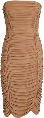 Norma Kamali Slinky Ruched Strapless Dress