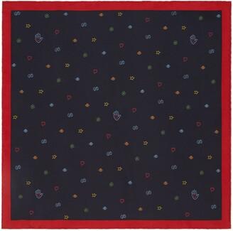 Gucci Symbols silk pocket square
