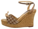 Burberry Gingham Espadrille Wedges