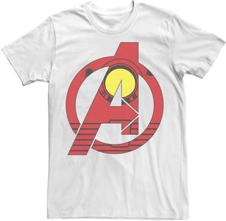 Iron Man Men's Marvel Avengers Costume Fill Logo Tee