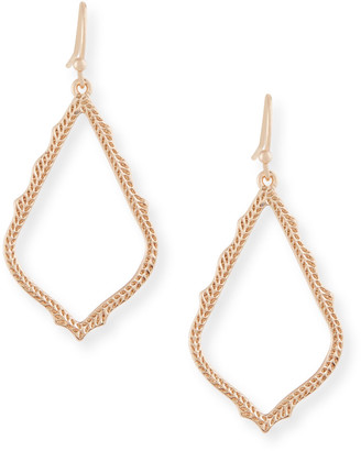 Kendra Scott Sophia Statement Earrings in 14K Rose Gold Plate