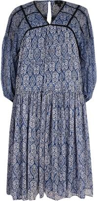 River Island Womens Plus Blue tile print smock dress